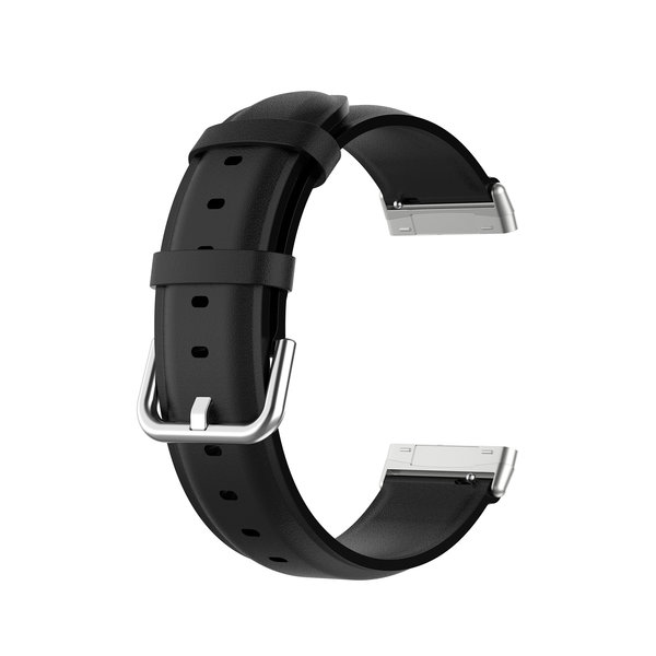 123Watches Fitbit Versa 3 / Sense bracelet en cuir  - noir