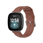 123Watches Fitbit Versa 3 / Sense leather band - brown