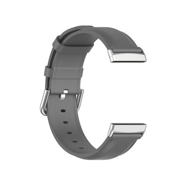123Watches Fitbit Versa 3 / Sense leather band - gray
