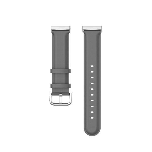123Watches Fitbit Versa 3 / Sense bracelet en cuir  - gris