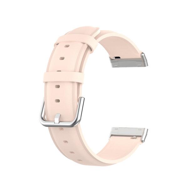 123Watches Fitbit Versa 3 / Sense leren band - roze