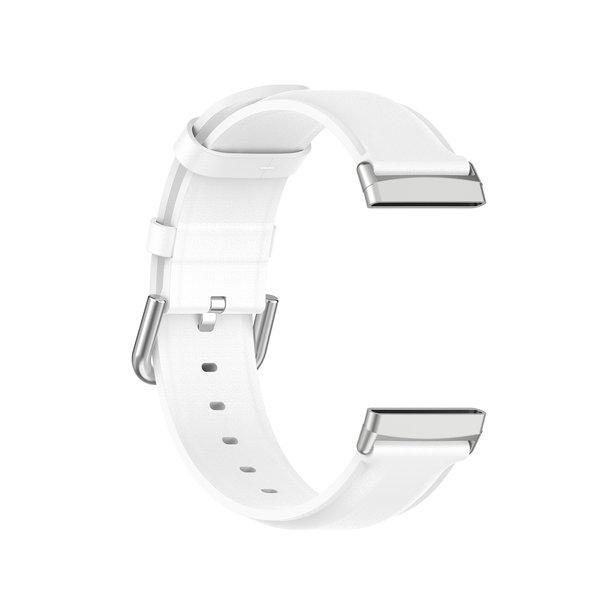 123Watches Fitbit Versa 3 / Sense leren band - wit