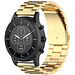 123Watches Huawei watch GT drie stalen schakel beads band - goud