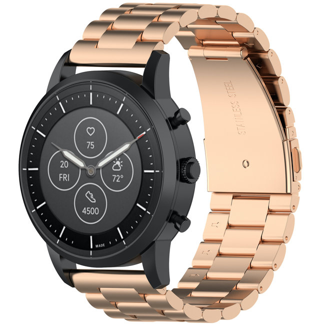 123Watches Huawei watch GT three steel band beads band - rose gold