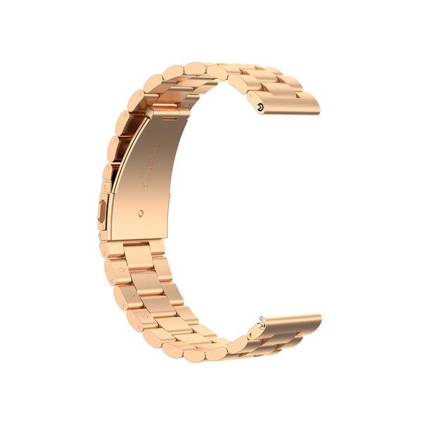 123Watches Huawei watch GT drie stalen schakel beads band - rose goud