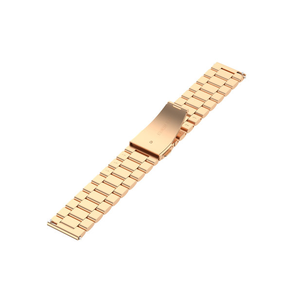 123Watches Huawei watch GT / fit drie stalen schakel beads band - rose goud