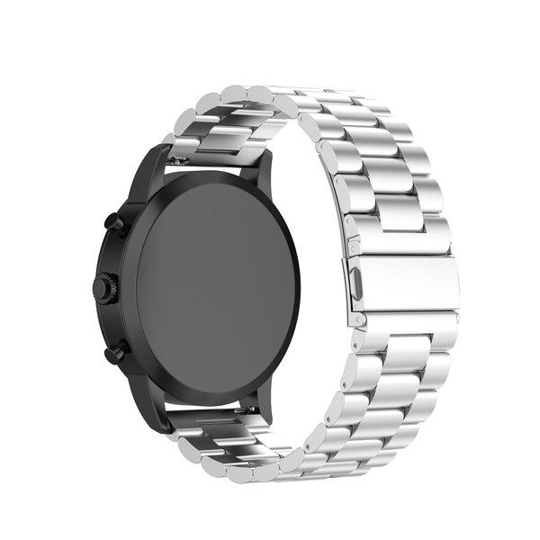 123Watches Huawei watch GT drie stalen schakel beads band - zilver