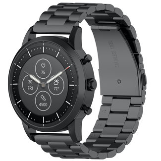 Merk 123watches Huawei watch GT drie stalen schakel beads band - zwart