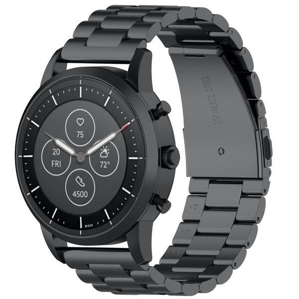 123Watches Huawei watch GT / fit drie stalen schakel beads band - zwart
