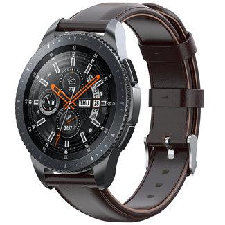 Merk 123watches Huawei watch GT leather band - dark brown