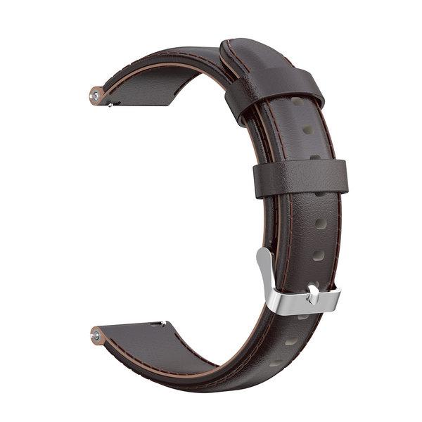 123Watches Huawei watch GT leren band - donker bruin