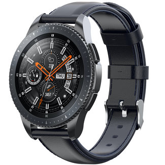 Merk 123watches Huawei watch GT leren band - donkerblauw