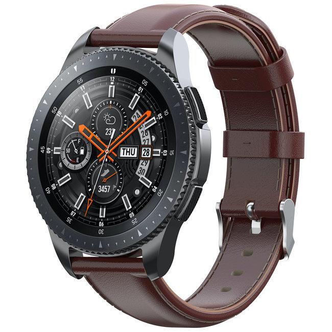 Merk 123watches Huawei watch GT leren band - lichtbruin