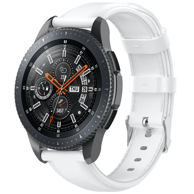 Merk 123watches Huawei watch GT leren band - wit