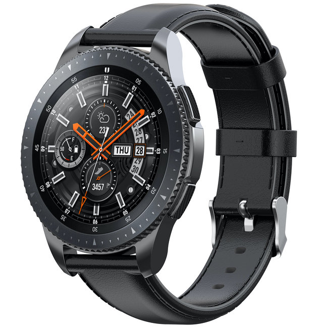 123Watches Huawei watch GT leather band - black