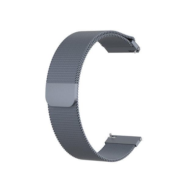 123Watches Huawei watch GT / fit milanese band - ruimte grijs