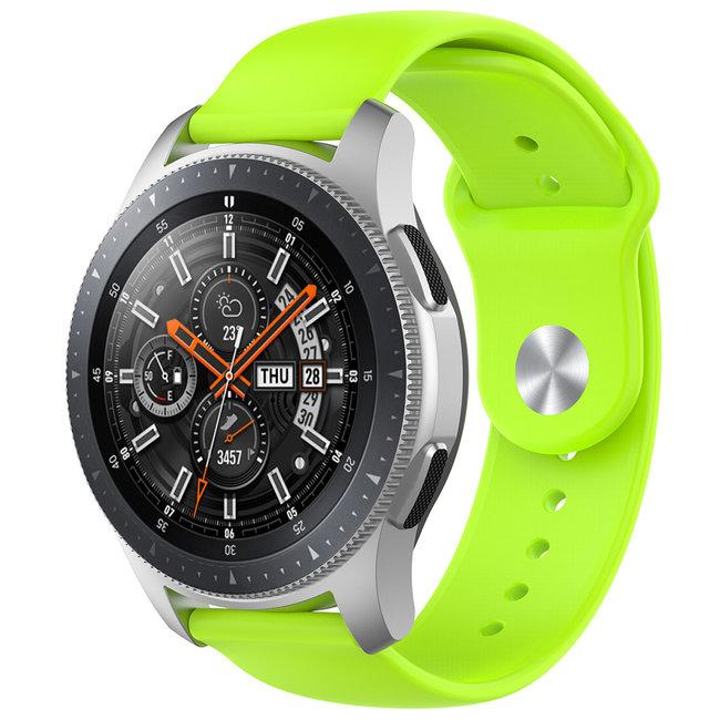 Merk 123watches Huawei watch GT silicone band - limoen