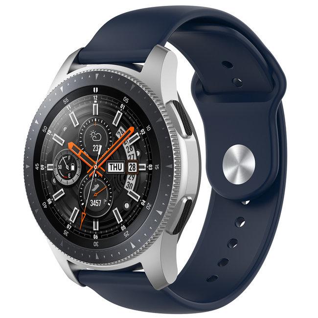 Merk 123watches Huawei watch GT silicone band - marineblauw