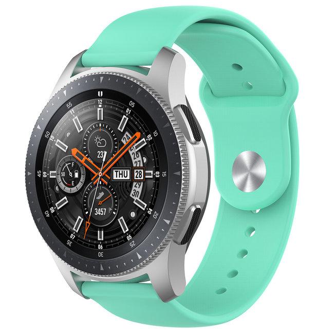 Merk 123watches Huawei watch GT silicone band - tahoe blauw