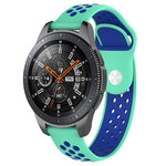 123Watches Huawei watch GT / fit double bande en silicone - bleu sarcelle