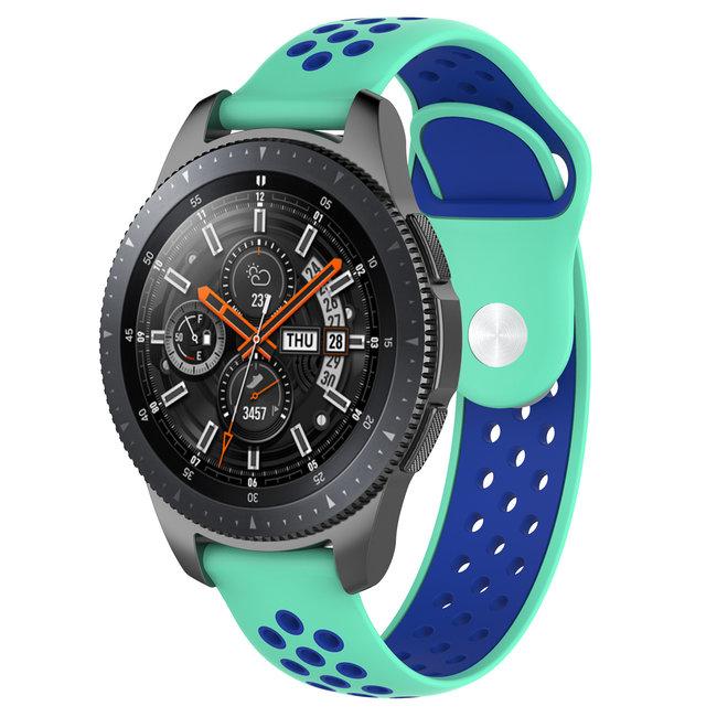 Merk 123watches Huawei watch GT silicone dubbel band - groenblauw blauw