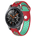 Merk 123watches Huawei watch GT silicone dubbel band - rood groenblauw