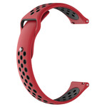 123Watches Huawei watch GT / fit silicone dubbel band - rood zwart
