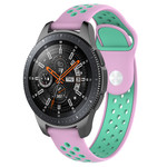 123Watches Huawei watch GT silicone dubbel band - roze groenblauw