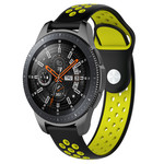 123Watches Huawei watch GT / fit double bande en silicone - noir jaune