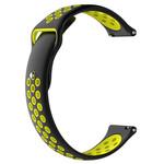 123Watches Huawei watch GT silicone dubbel band - zwart geel