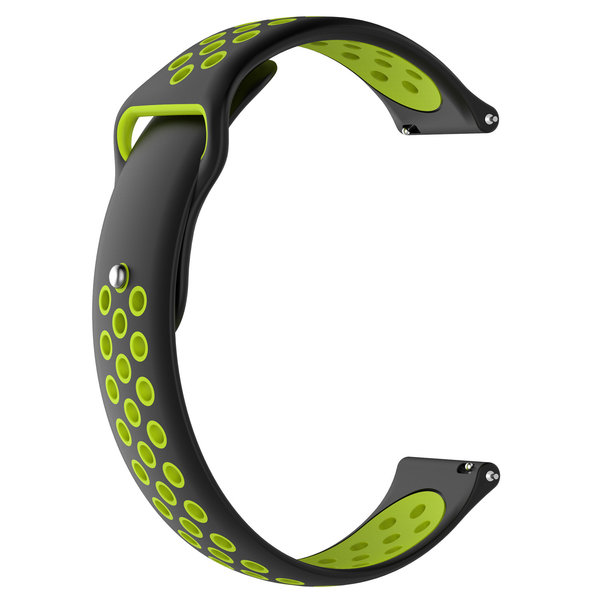 123Watches Huawei watch GT silicone dubbel band - zwart groen