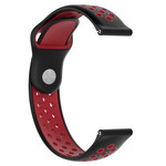 123Watches Huawei watch GT silicone dubbel band - zwart rood