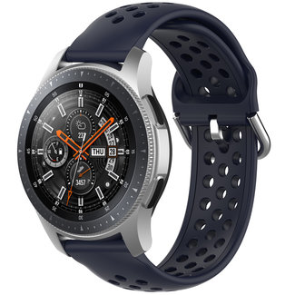 123Watches Huawei watch GT silicone dubbel gesp band - donkerblauw