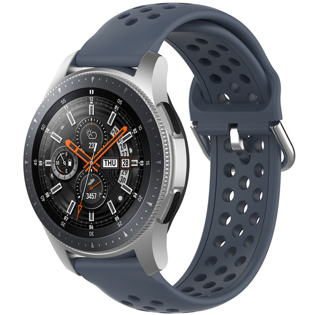 Merk 123watches Huawei watch GT silicone dubbel gesp band - grijs