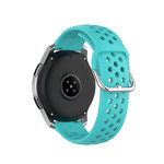 123Watches Huawei watch GT / fit silicone dubbel gesp band - groenblauw