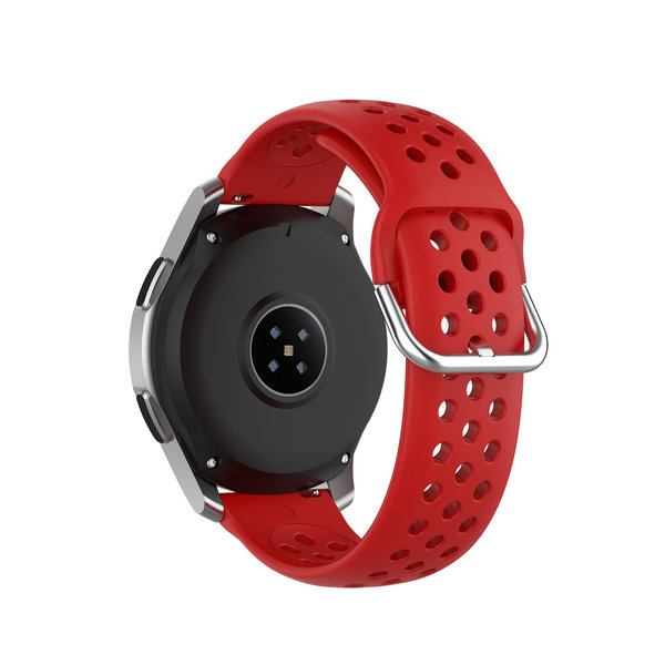 123Watches Huawei watch GT silicone dubbel gesp band - rood
