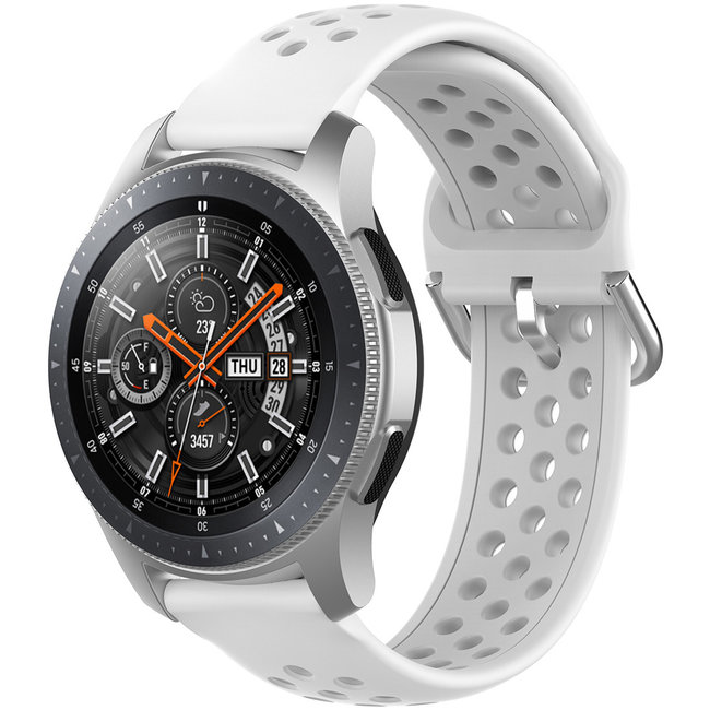 123Watches Huawei watch GT silicone dubbel gesp band - wit