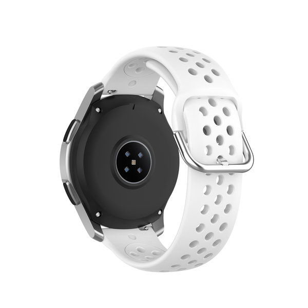 123Watches Huawei watch GT / fit Silicone double buckle strap - white