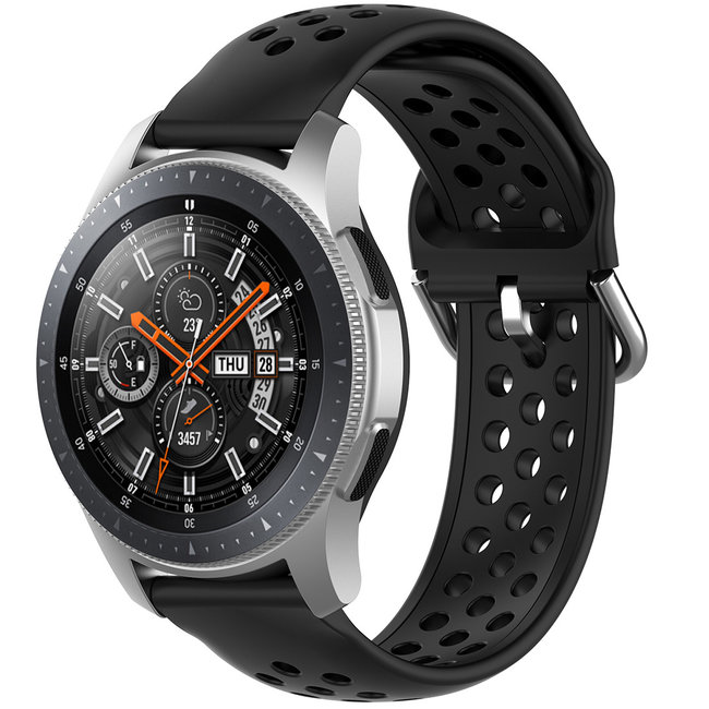 Huawei watch GT Silicone double buckle strap - black