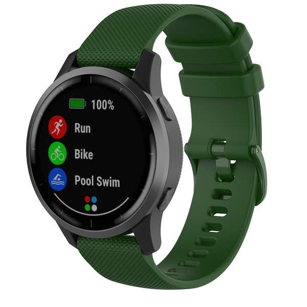 123Watches Huawei watch GT silicone gesp band - groen