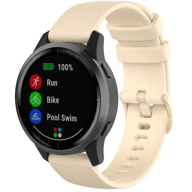 Merk 123watches Huawei watch GT silicone gesp band - khaki