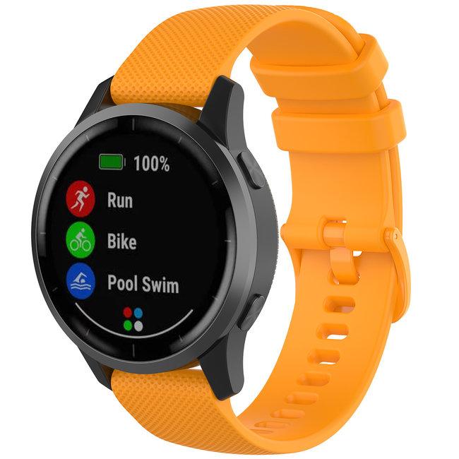 Merk 123watches Huawei watch GT silicone gesp band - oranje