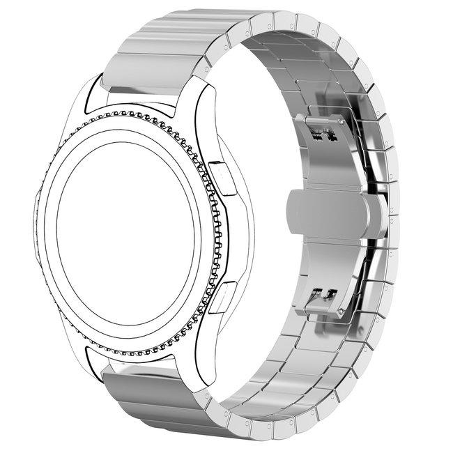 Merk 123watches Huawei watch GT stalen schakel band - zilver