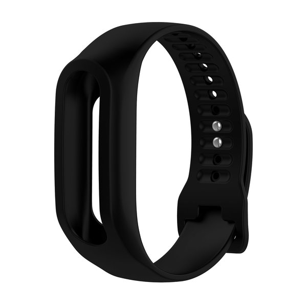 123Watches TomTom Touch silicone belt buckle band - black