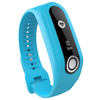 Merk 123watches TomTom Touch silicone belt buckle band - blue