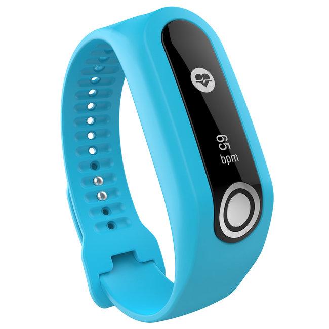 Merk 123watches TomTom Touch silicone gesp band - blauw