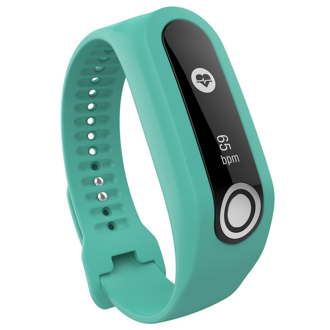 Merk 123watches TomTom Touch silicone gesp band - groenblauw