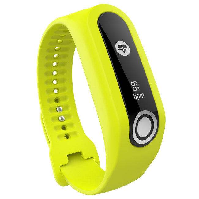 Merk 123watches TomTom Touch silicone gesp band - geel