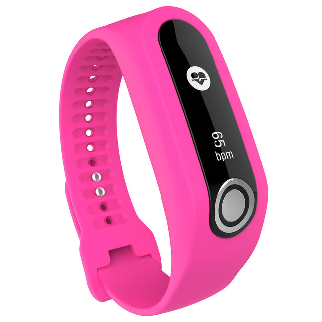 Merk 123watches TomTom Touch silicone gesp band - roze