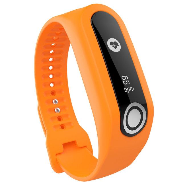 Merk 123watches TomTom Touch silicone gesp band - oranje